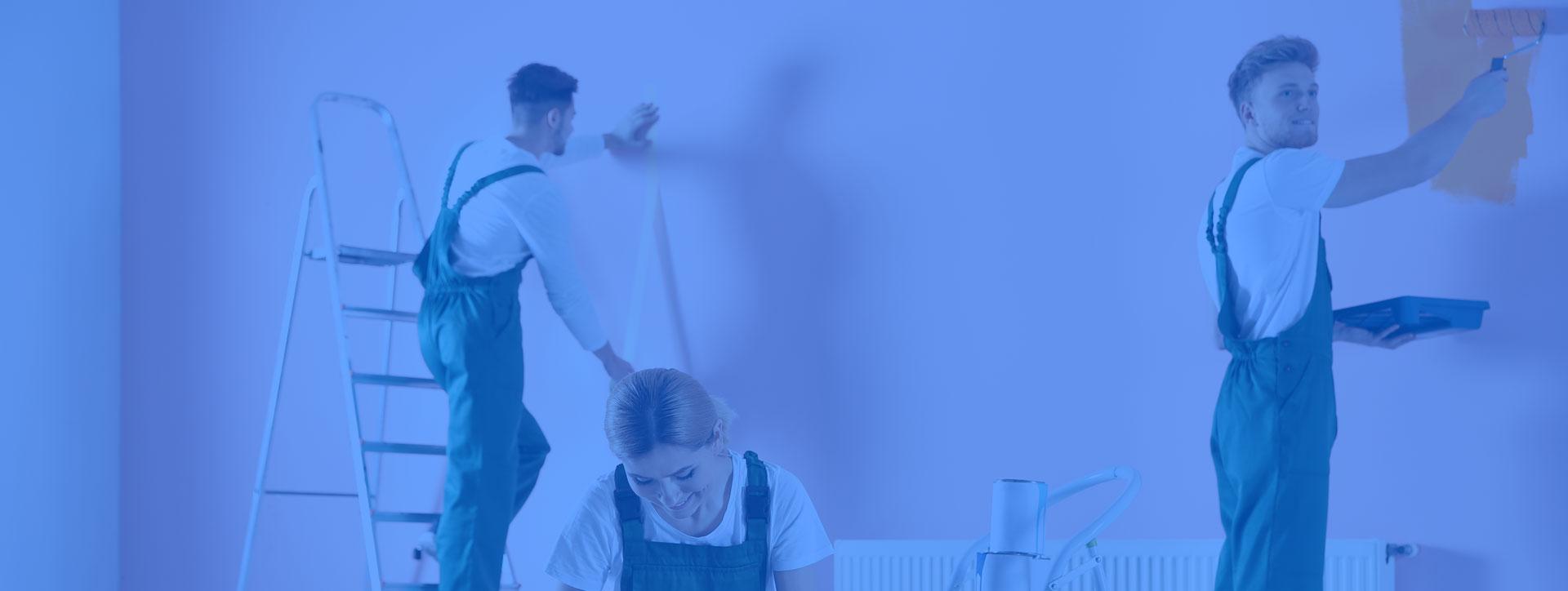 peinture aux murs et aux sols